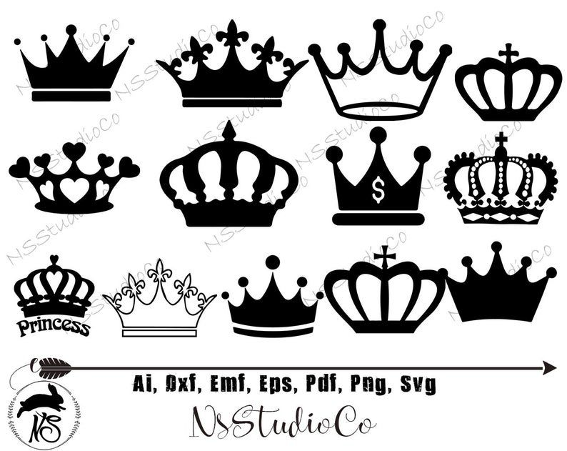 Pin On Crown Silhouettes