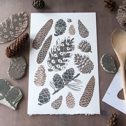 Линогравюра и штампы lino stamps printed craft and