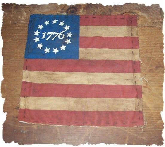 Primitive Colonial Americana 1776 Flag by oldetimegatherings, $5.49