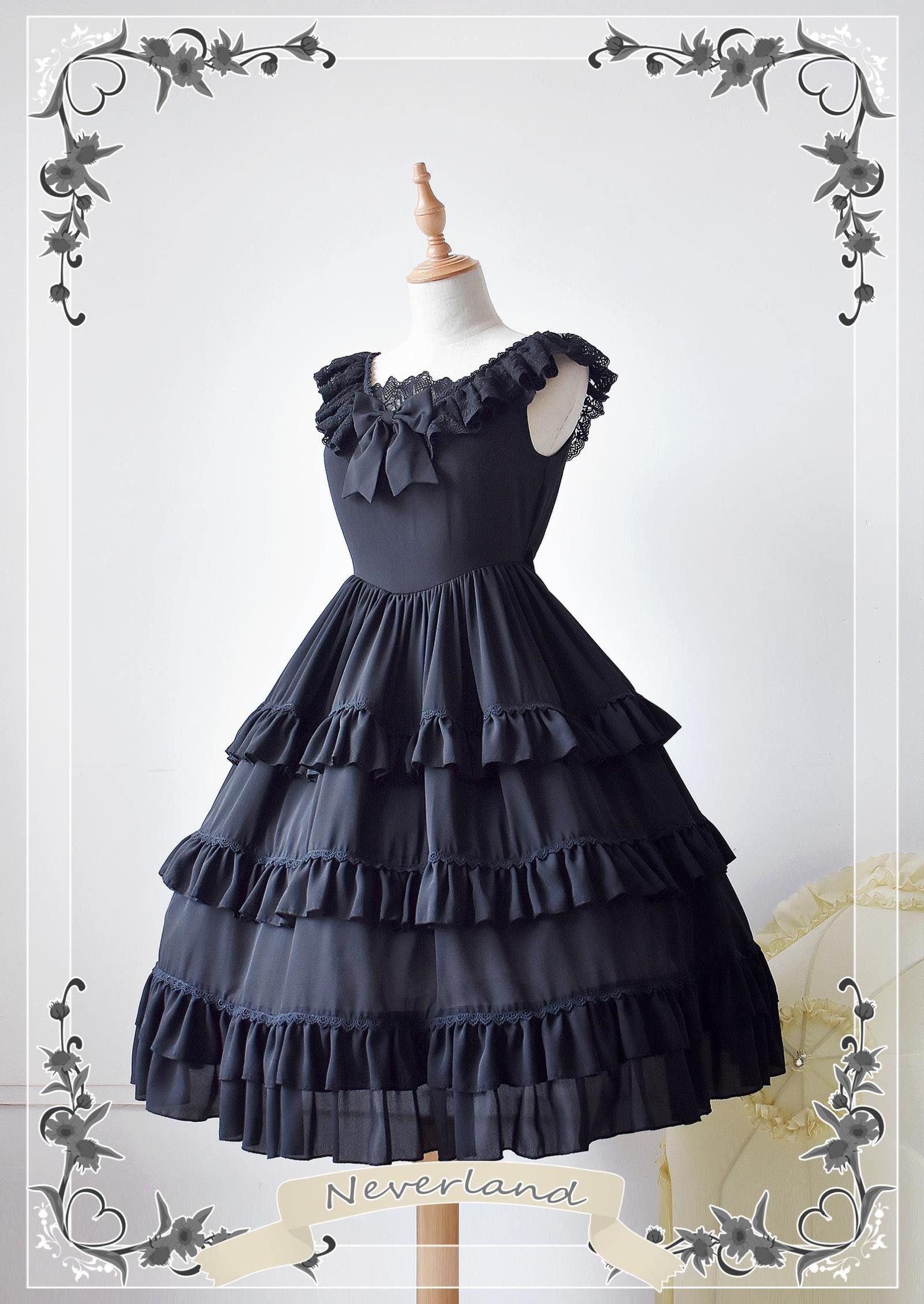 Photo of Cheap Colorful Fairy Tales Chiffon Tailored Neverland Lolita Jumper Dress Sale A… – Costume cosplay (groupe)