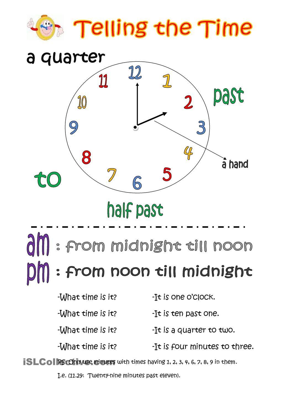 Telling the time basic knowledge worksheet free esl printable telling the time basic knowledge worksheet free esl printable worksheets made by teachers ibookread ePUb
