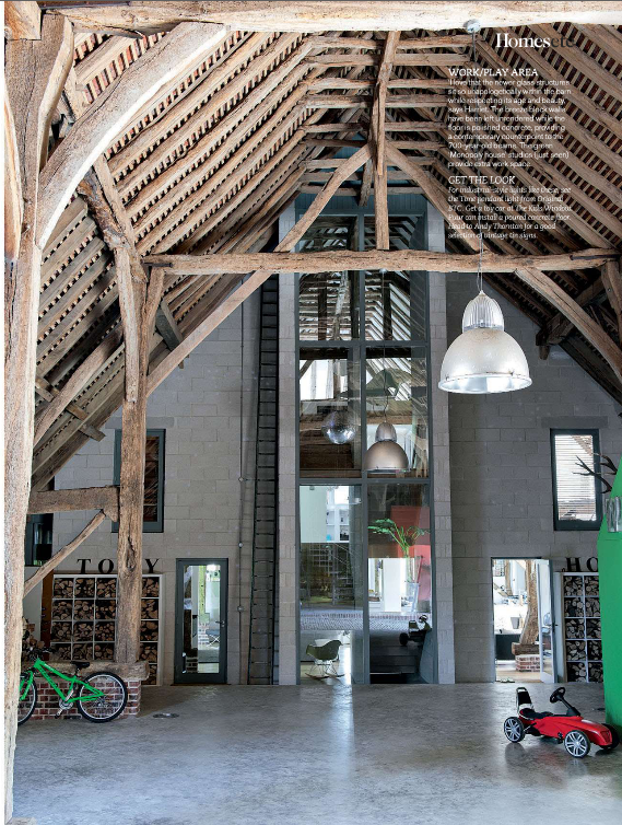 Barn Conversion . Living etc - Of course the ceiling