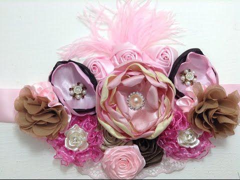 "3 pieces Plum 1.5/"" satin rolled rose //DIY baby headband"
