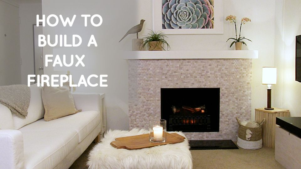 Finally My Dream Of Having A Fireplace In My Rental Apartment Has Come True And This Diy Faux Fireplace Is E Faux Fireplace Diy Faux Fireplace Fake Fireplace