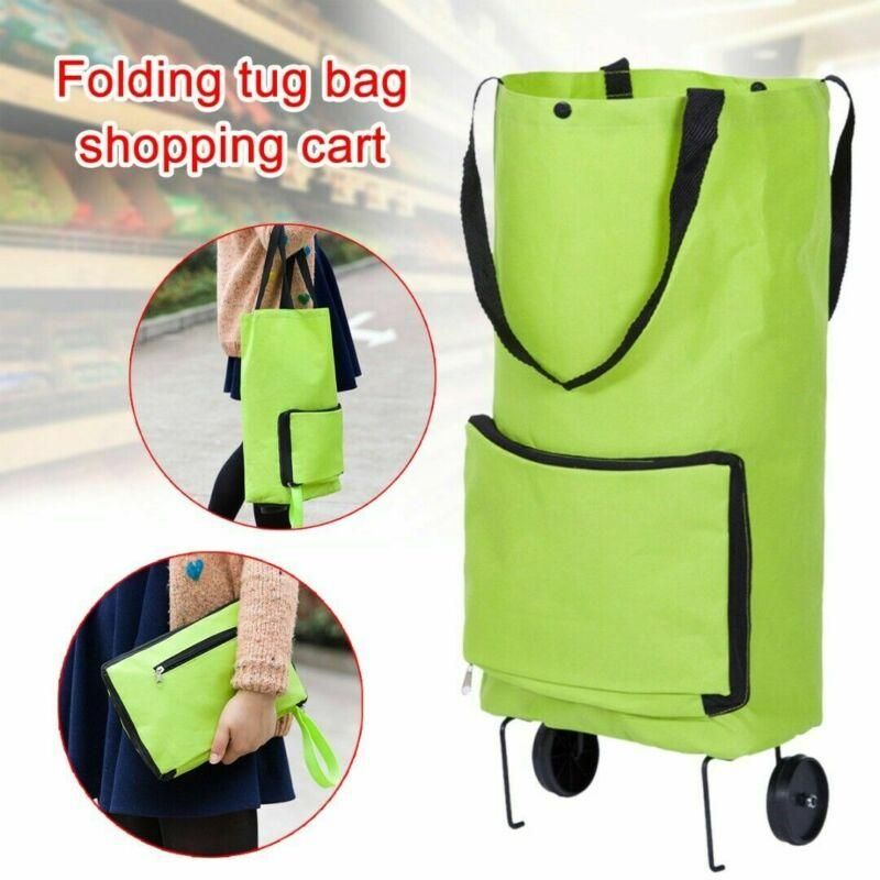 Fashion Folding Home Trolley Shopping Bag Reusable Shopping Cart Portable Eco Friendly Storage Totes Large Fo Portable Shopping Cart Trolley Bags Storage Totes