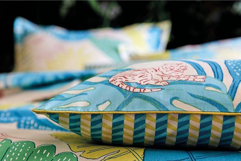 parure de lit percale bali blanc des vosges bleu canard. Black Bedroom Furniture Sets. Home Design Ideas