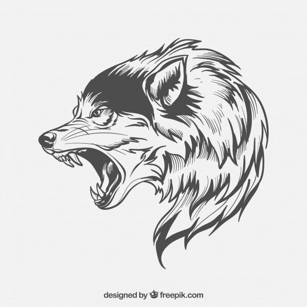 Descarga Gratis Lobo De Perfil Tatuagens Tribais De Lobos Lobo Tatuagem Silhueta De Lobo