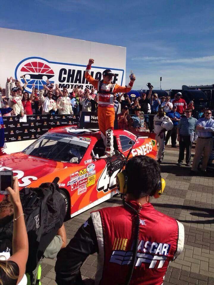 kyle larson wins his 2nd nascar nationwide race at charlotte motor rh pinterest com