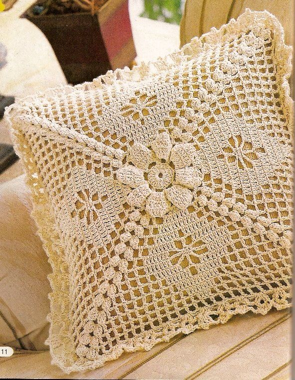 Puntos a crochet para cojines imagui - Cojin de crochet ...