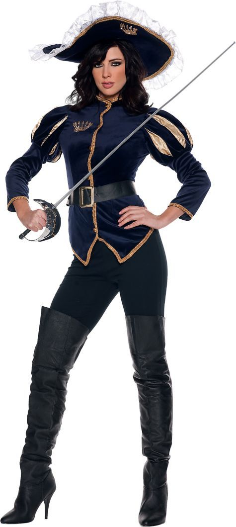 Adult Ms Charming Musketeer Costume - Womens Costumes - Sale