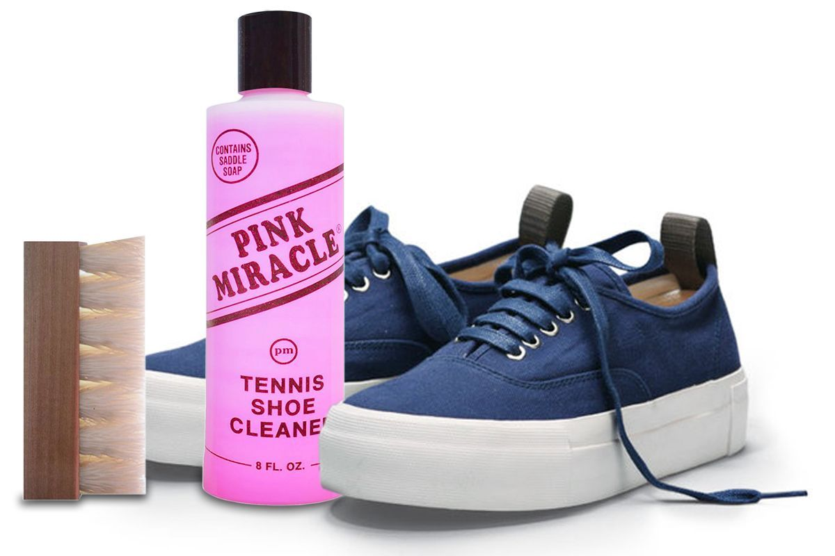 This shoe cleaner works great on leathers, nubuck, suede, and its even been able to clean my girlfriend's designer purse. It is easy to use and a little goes a long way! Available here: thepinkmiracle.com