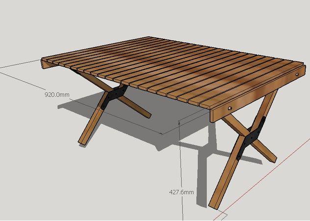 自作 ロールトップテーブル 前編 テーブル 自作 の1枚目の写真 ロールトップテーブル 折り畳み式テーブル キャンプ用テーブル