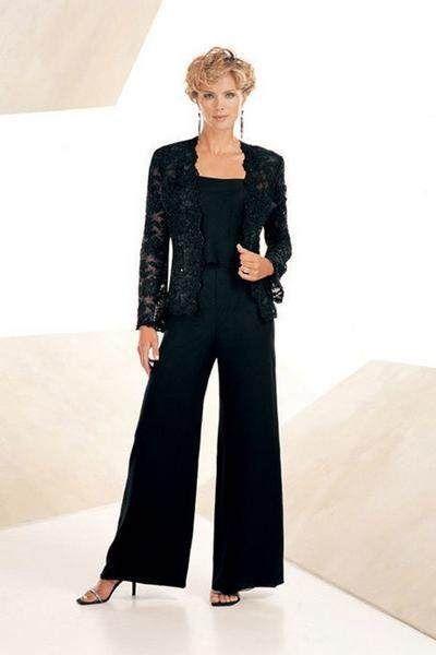 Neue Mutter der Braut Kleider stil zweiteilige Schwarze ...