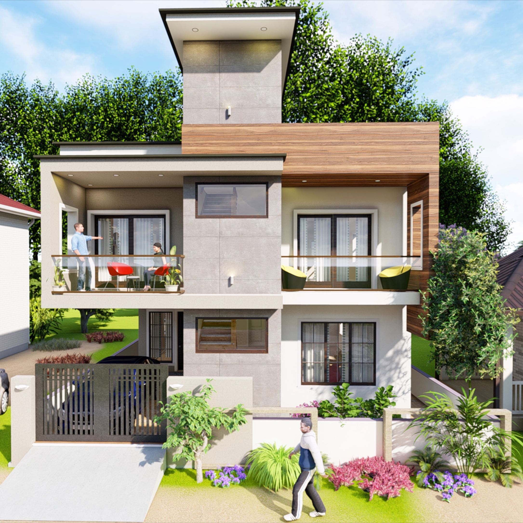 Modern Home Design Ideas Exterior:  Modern Exterior View For Your Dream House . Simple And