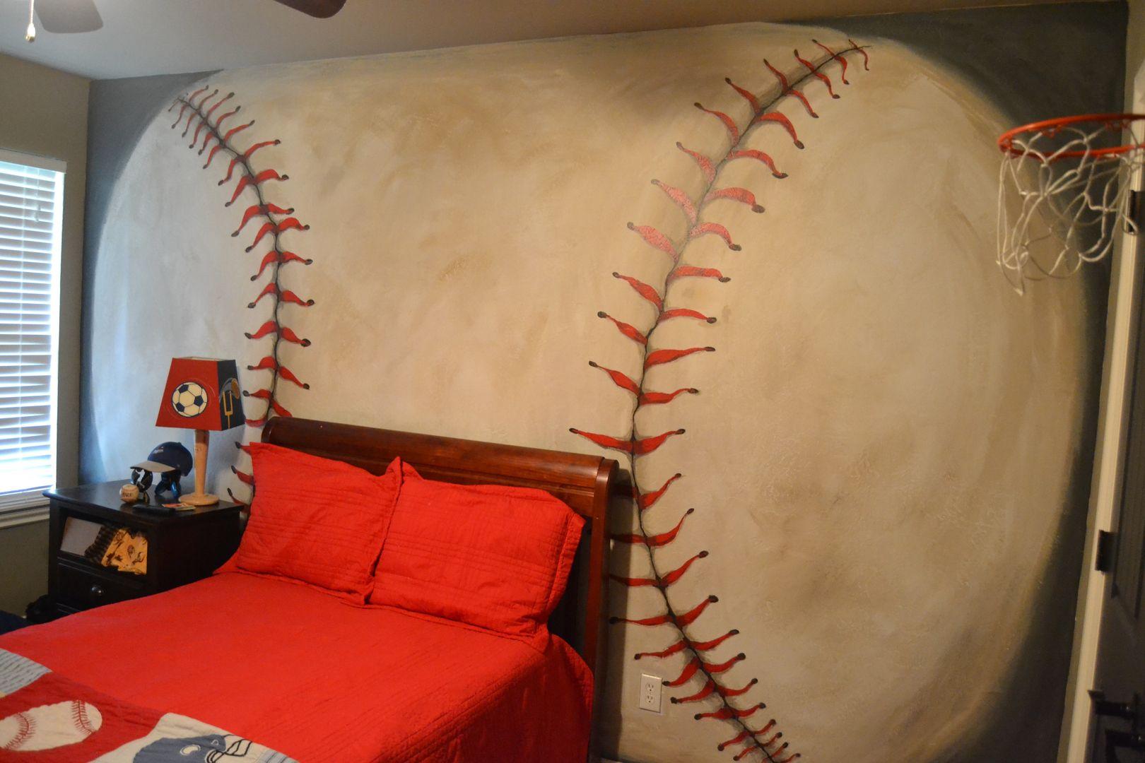 Baseball Mural Oklahoma City Boys Room