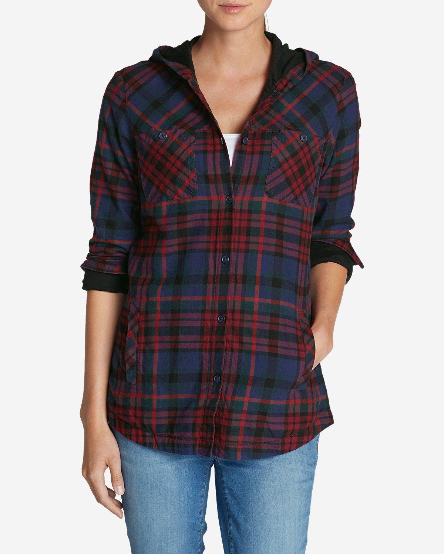 Shirt jacket design - Women S Stine S Favorite Flannel Hooded Shirt Jacket Eddie Bauer