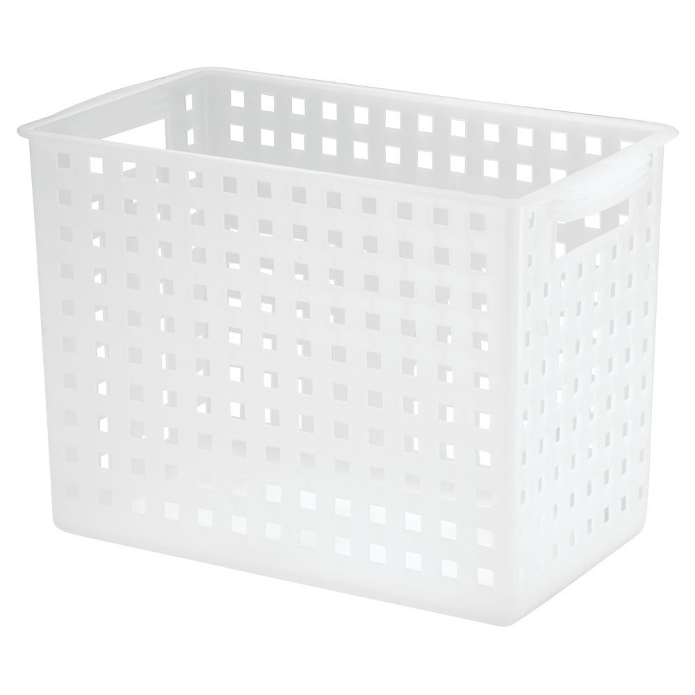 Tall Plastic Laundry Basket Enchanting Amazon Interdesign Modulon Household Storage Basket Tall Decorating Inspiration
