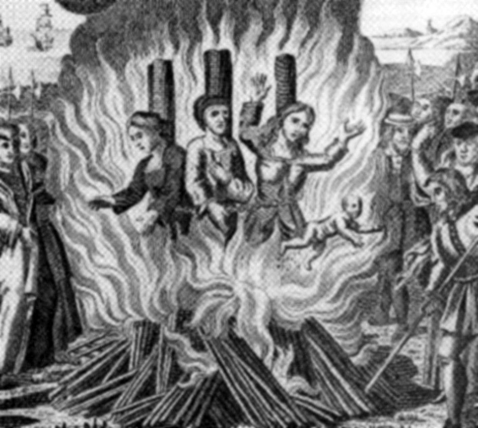 What the witches were burned for