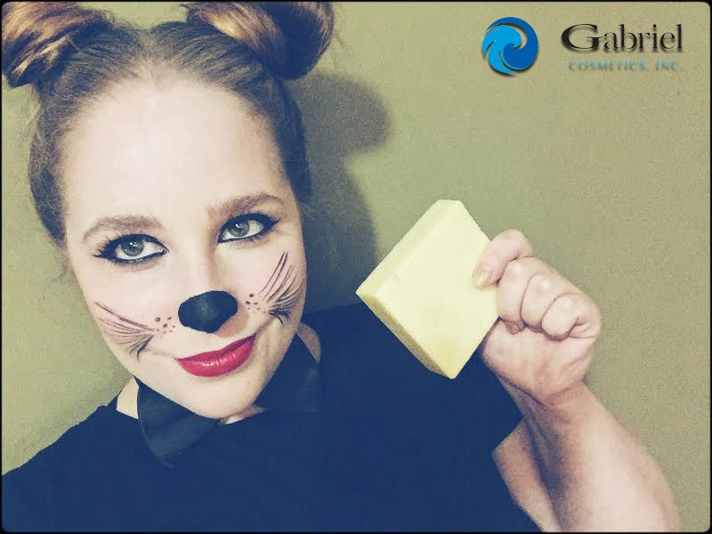 Cute Mouse Makeup for Halloween from Gabriel Cosmetics - Hello .