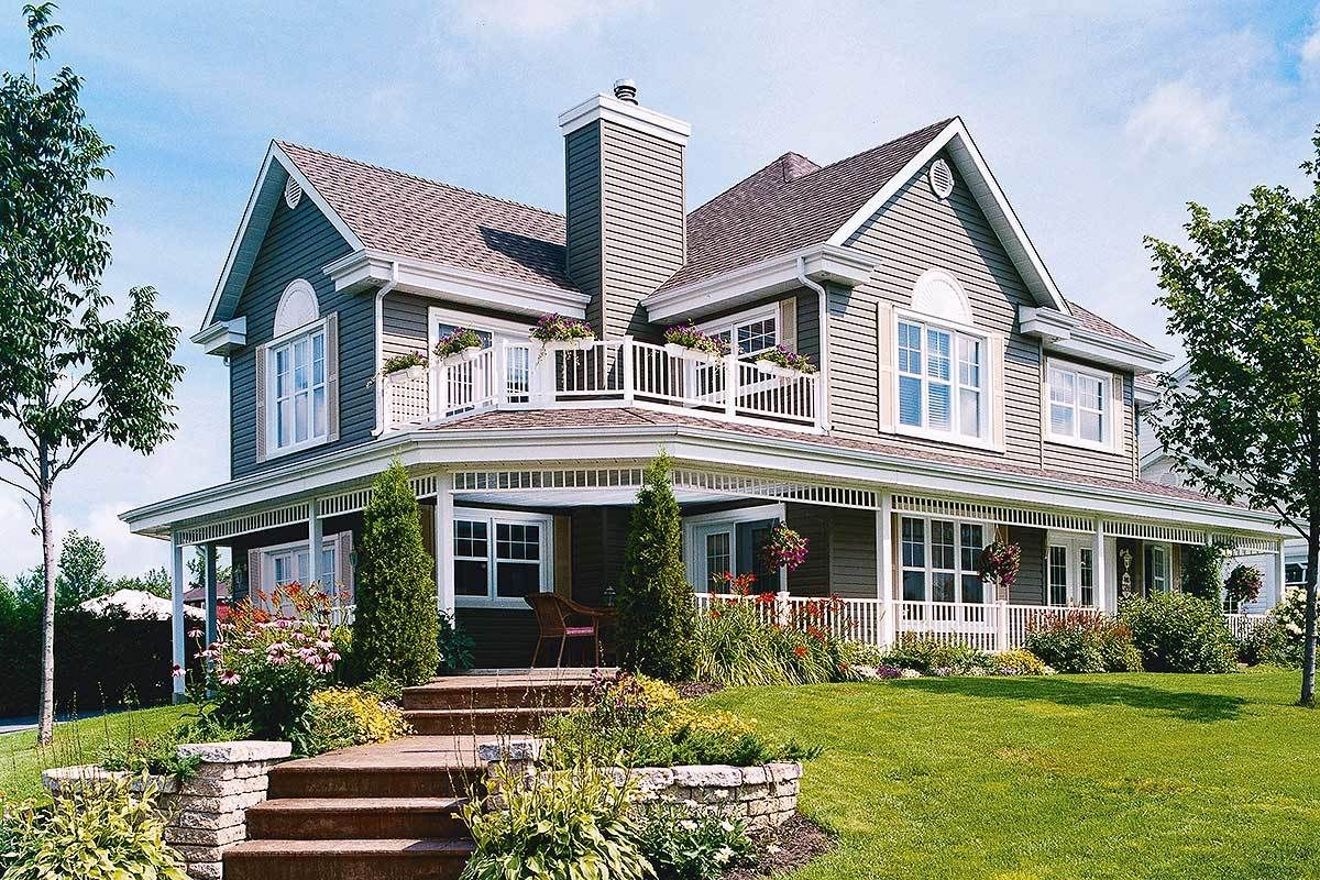 Plan 2118dr wonderful wraparound porch with images