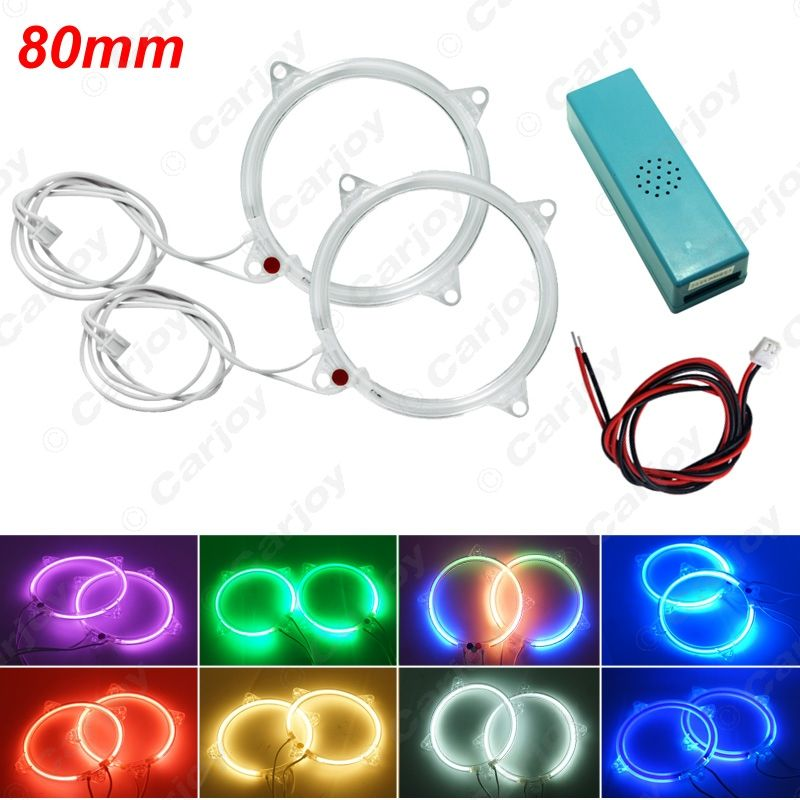 $9.56 (Buy here: https://alitems.com/g/1e8d114494ebda23ff8b16525dc3e8/?i=5&ulp=https%3A%2F%2Fwww.aliexpress.com%2Fitem%2F2pcs-pair-Free-shipping-5-Color-Red-Blue-Pink-White-Purple-80mm-Car-Headlight-Light-CCFL%2F32649107678.html ) 2pcs/pair  Free shipping  Auto Car DRL 80mm CCFL Headlight LED Halo Ring Angel Eyes Warning Lamps 8-Color #CA2716 for just $9.56