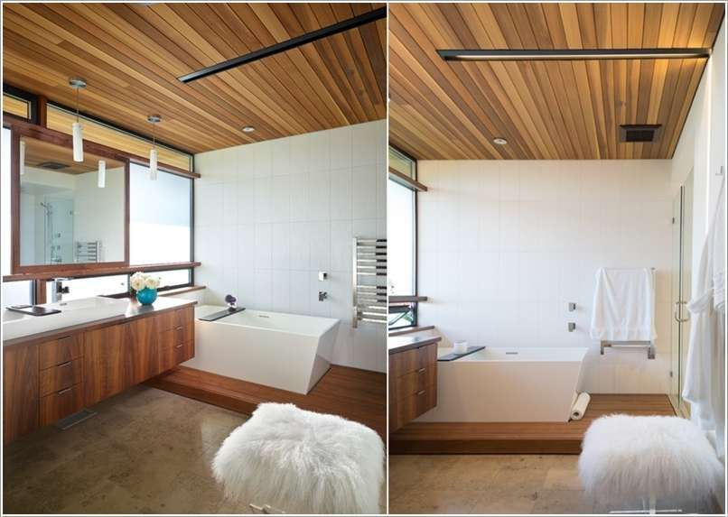 15 Fabulous And Chic Bathroom Ceiling Design Style Tips