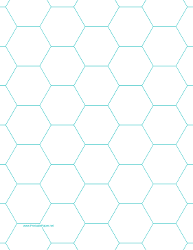 Octagon Graph Paper | This Letter Sized Hexagon Graph Paper Is Spaced With Hexagons An