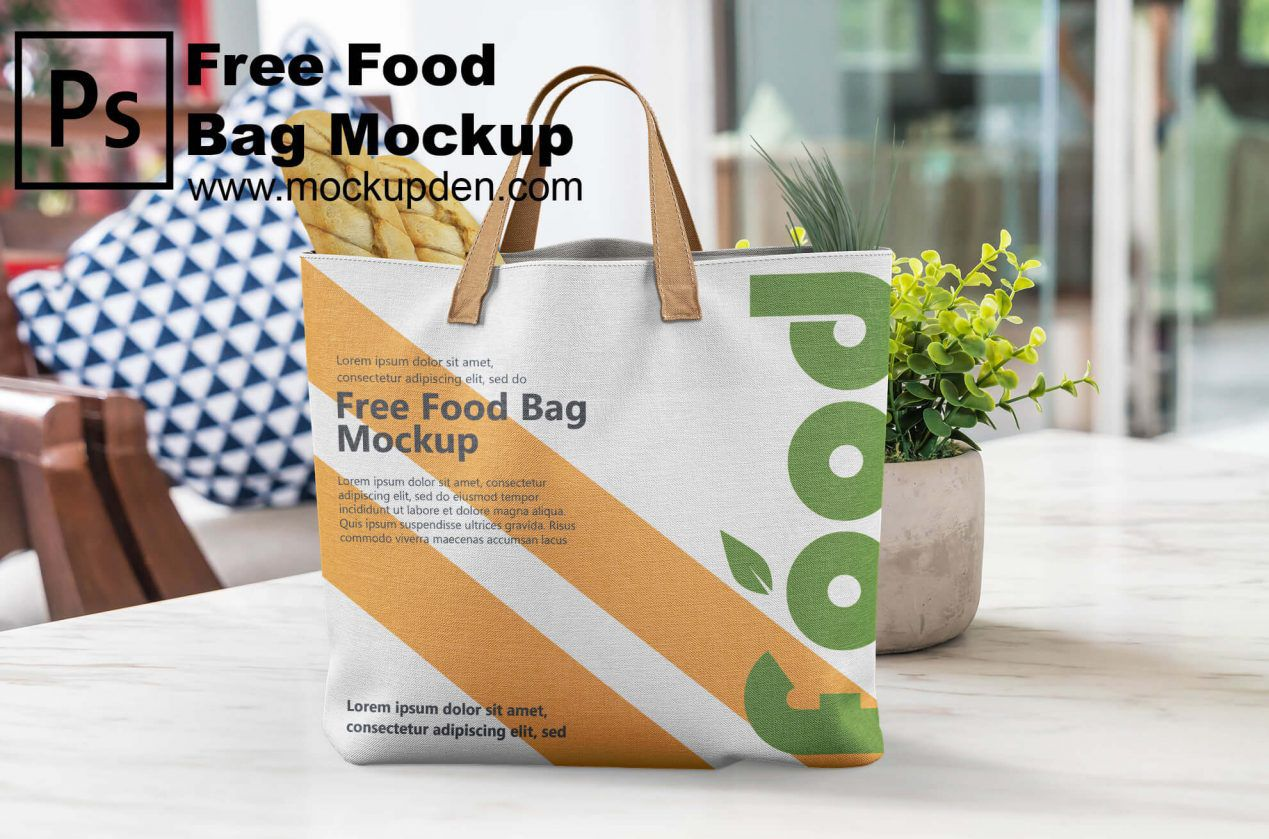 Download Carry Food Bag Free Psd Mockup Template Bag Mockup Free Psd Mockups Templates Mockup Free Psd