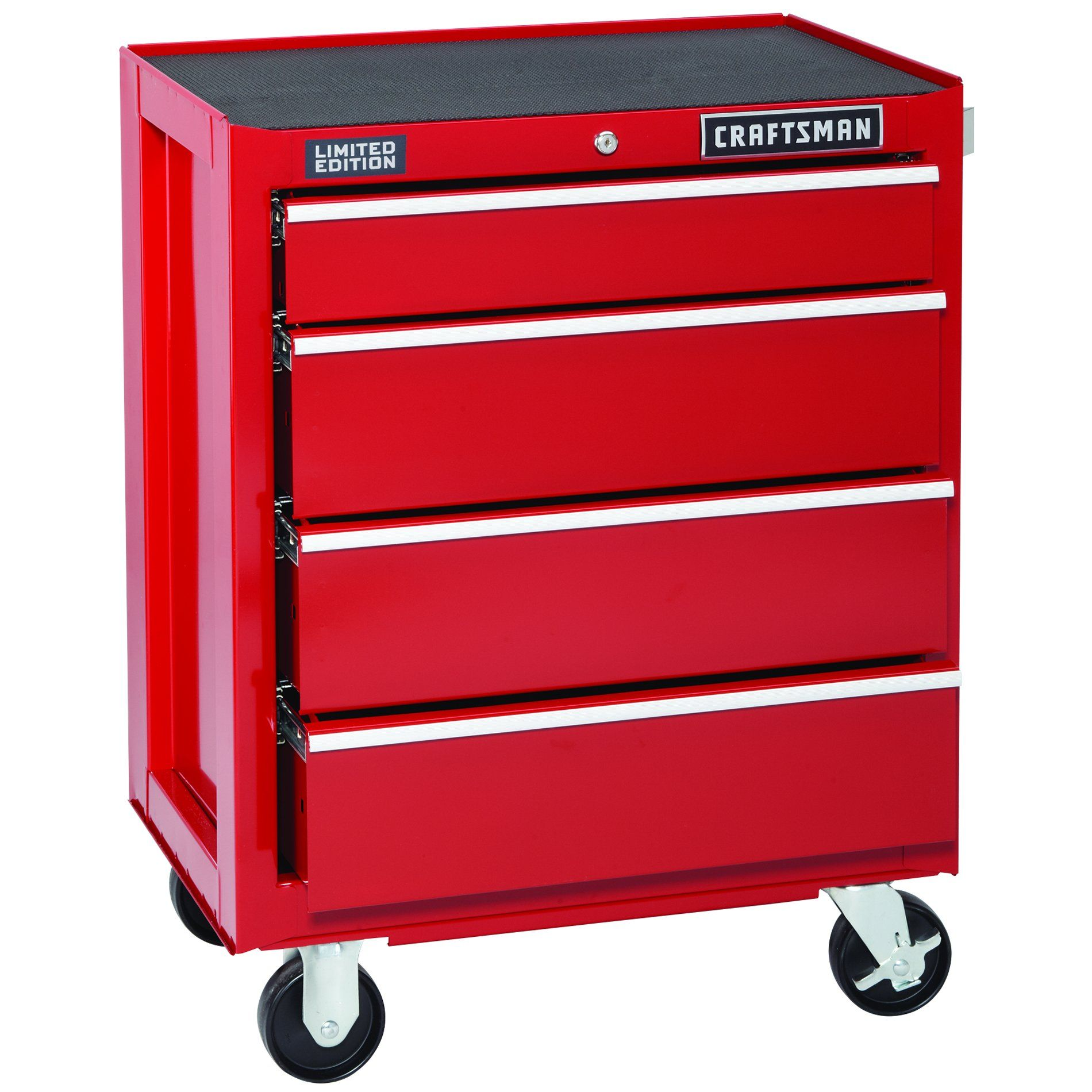 Craftsman 4 Drawer Red Ball Bearing Griplatch Bottom Chest Limited Edition Tools Tool Storage Bottom Rol Craftsman Tools Chest Drawers Storage Drawers