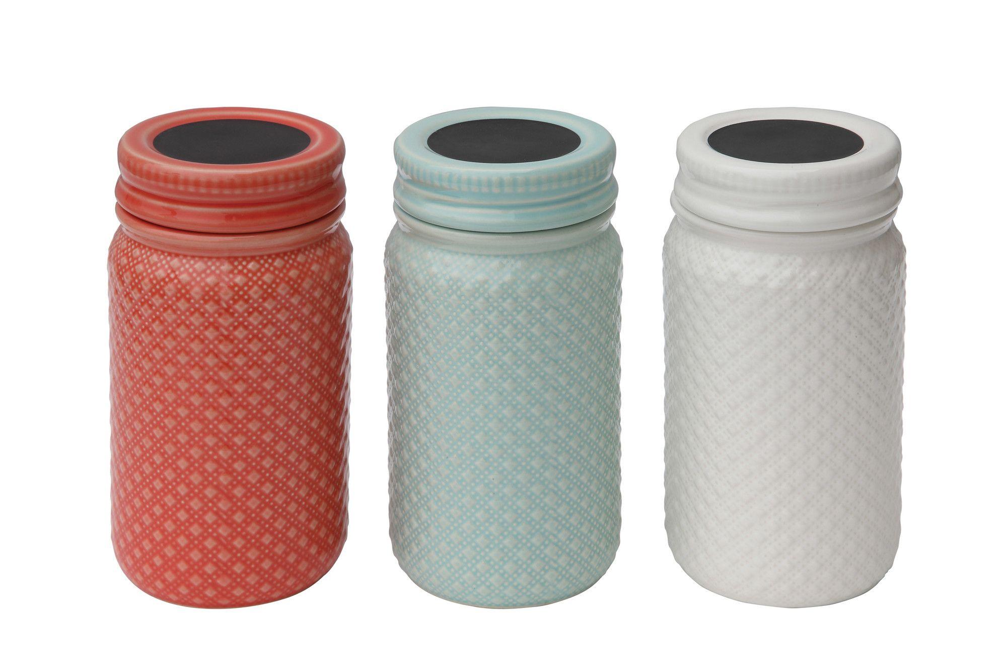 Olson 3-Piece Kitchen Canister Set | Products | Pinterest | Kitchen ...