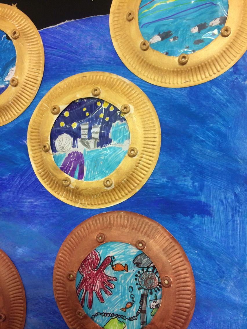 95babd69 Titanic Portholes display | kids stuff | Titanic art, Preschool art ...