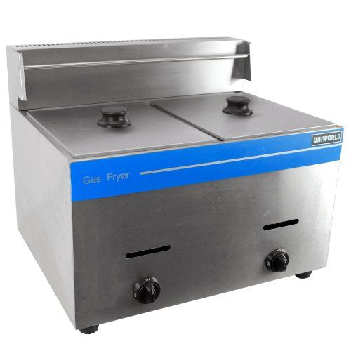 Propane Gas Fryer Stainless Steel Construction 25000 Btu Burner