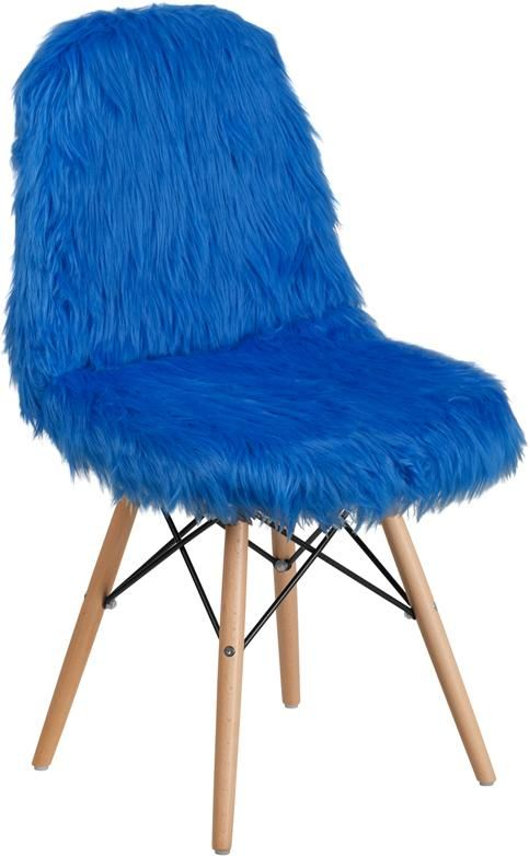 Best Shaggy Dog Cobalt Blue Accent Chair Blue Accent Chairs 400 x 300