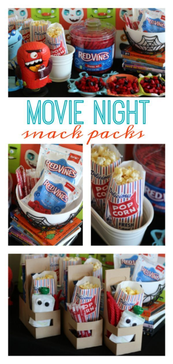 Movie Night Snack Packs #movienightsnacks Movie Night Snack Packs #movienightsnacks