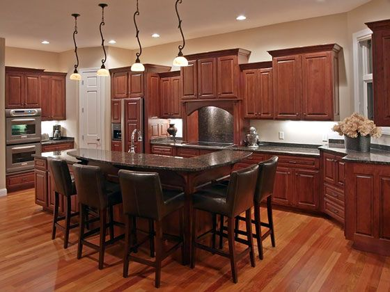 Kitchen Cabinet Layout And Design From Different Height Kitchen