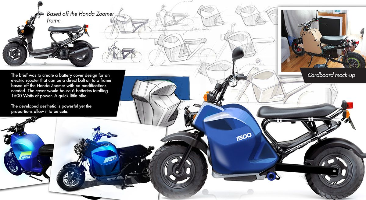 Electric Zoomer Electric Motorcycle Conversion On Behance