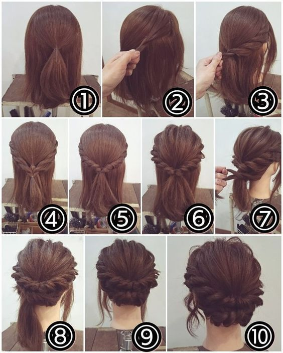 170 Easy Hairstyles Step by Step DIY hair-styling can help you to stand apart from the crowds - Hair Styles