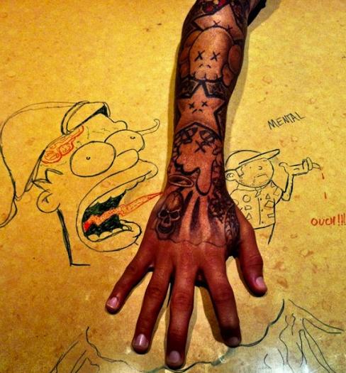 chris brown tattoos Tattoos on Chris' arm Tatuagem
