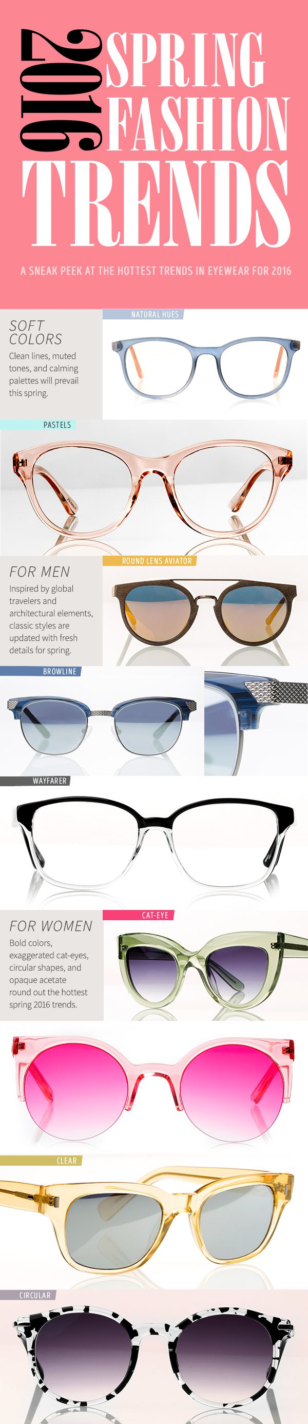 eb9a567f6c It's Fashion Week and Zenni Optical is giving you an exclusive sneak peek  at the hottest eyewear trends for 2016. What's your favorite style? | Gafas  ...