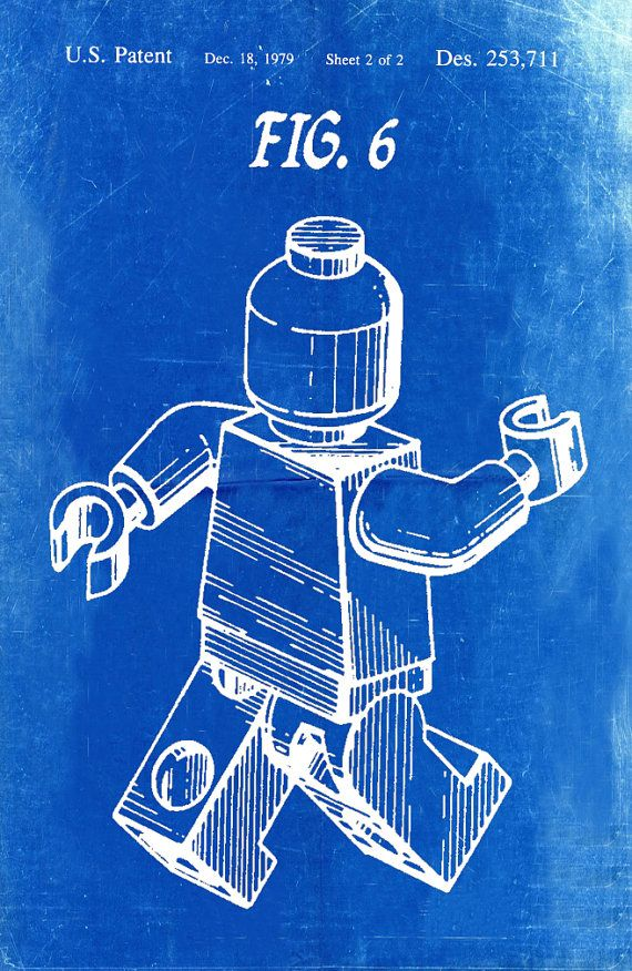 Lego patent blueprint art of a lego figure man person no7 lego patent blueprint art of a lego figure man by bigbluecanoe malvernweather Gallery