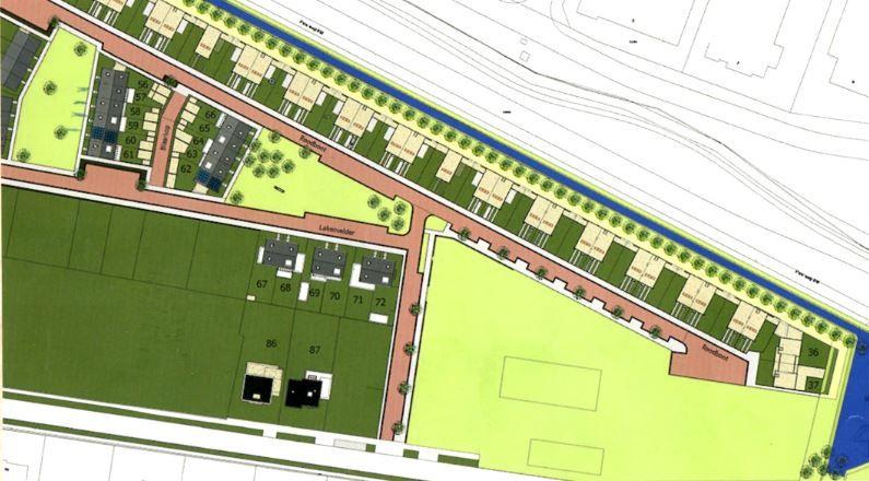 Plattegrond van onze nieuwe wijk