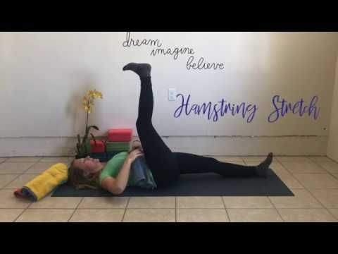 20 min yin yoga for hamstrings hips lower back and spine