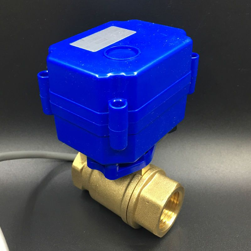 Free Shipping Dc3 6v Cr02 Wiring 3 Wires 2 Way Brass Dn15 Motorized Ball Valve Bsp 1 2 Actuator Operated Valve Electric Motor Actuator Brass