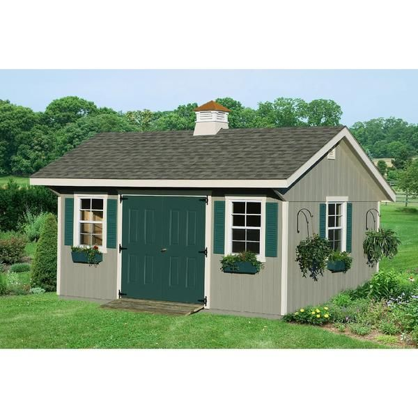 Homeplace By Suncast Bungalow Garden Building 12 Ft X 16 Ft 5690 Description Item 043v002124853002p Model Lb12 Tiny House Outdoor Living Garde