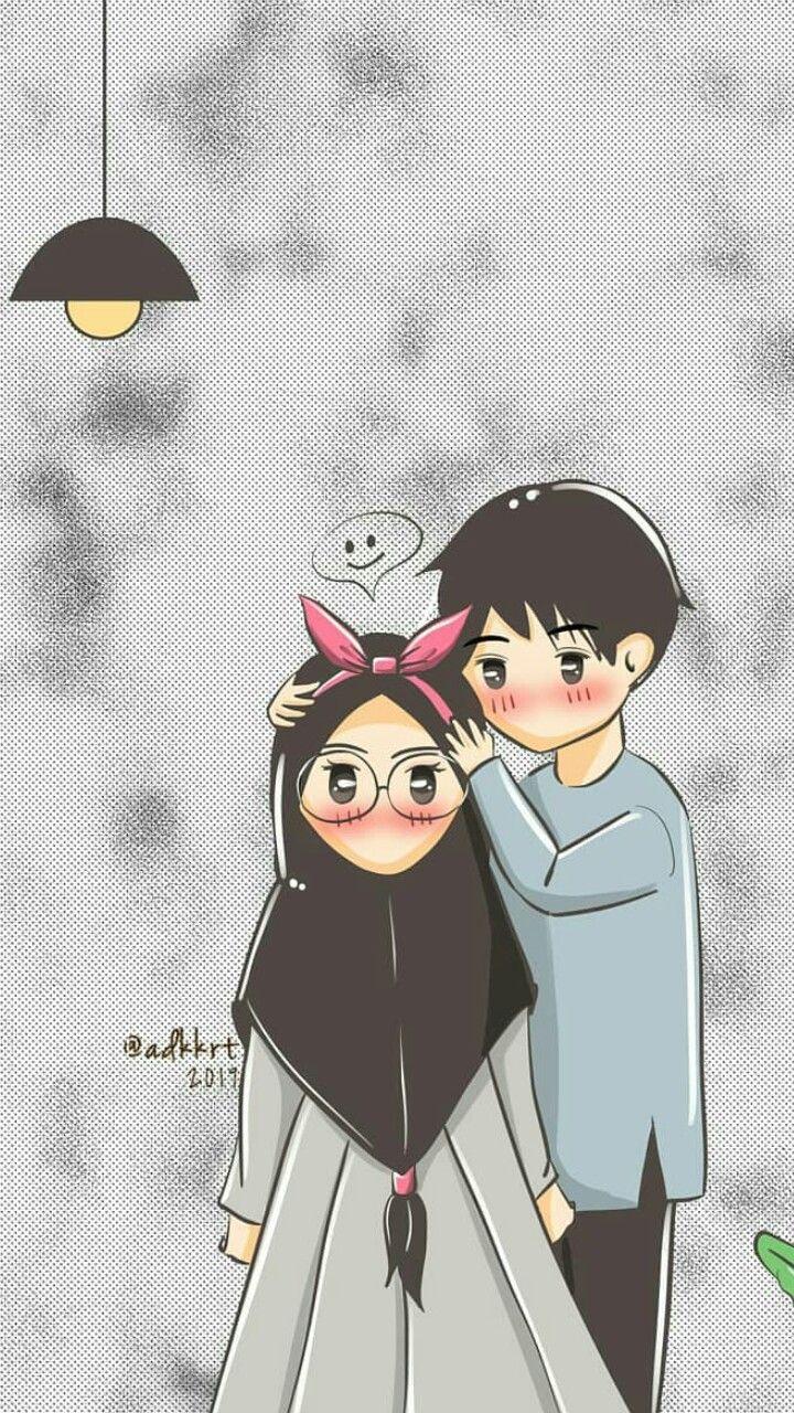 Pin Oleh Musahid Noyon Di Anime Muslimah Ilustrasi Karakter Kartun Pasangan Anime Lucu