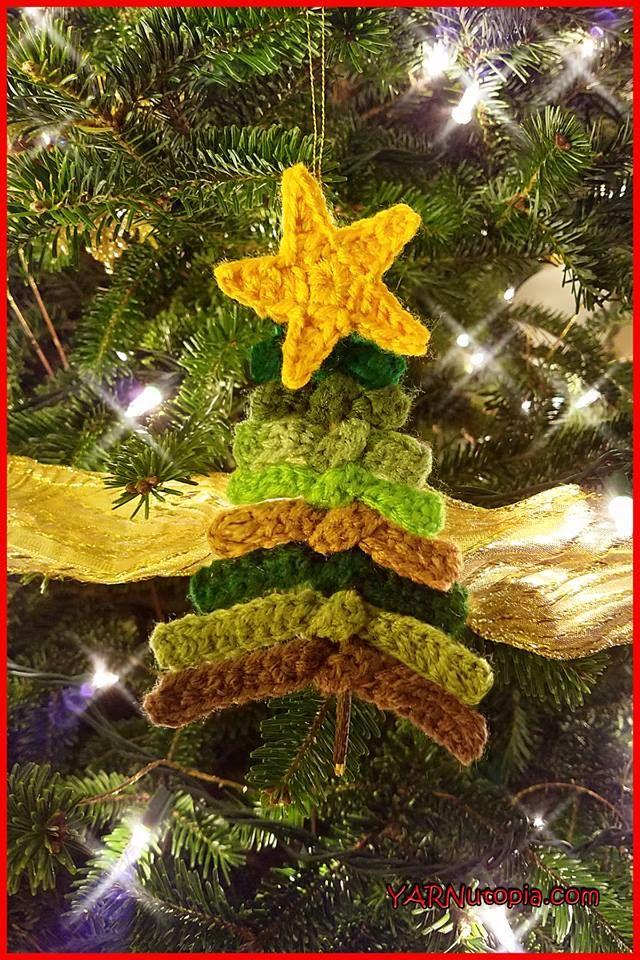 Crochet Tutorial: Rustic Evergreen Ornament | YARNutopia by Nadia Fuad