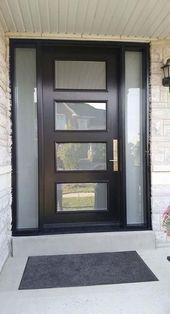 28 mejores ideas para estilos modernos de puertas frontales de vidrio esmerilado - #Decoentreemaison # DÃ ...