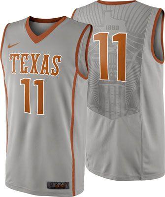 innovative design f2334 ed069 Texas Longhorns Grey Nike Basketball Jersey #longhorns ...