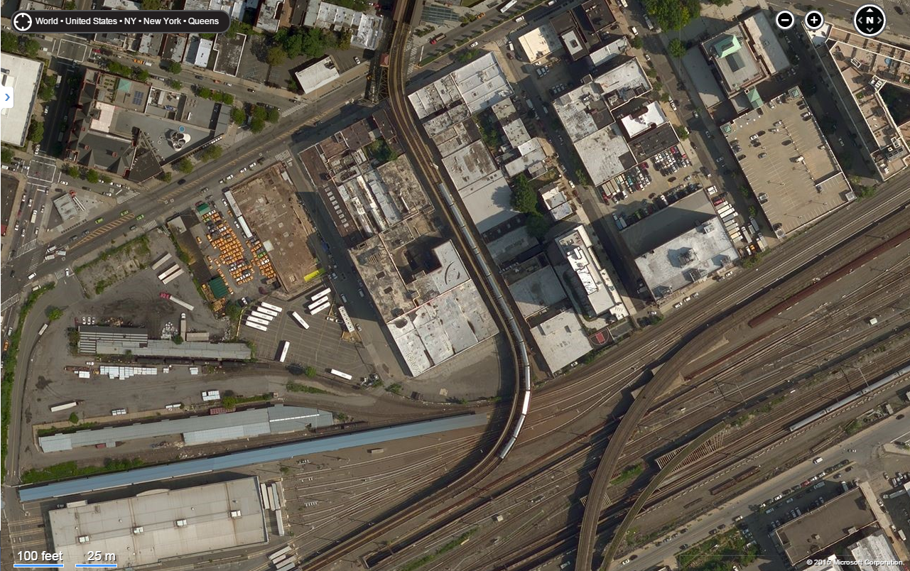 another aerial view before demolition started bing maps