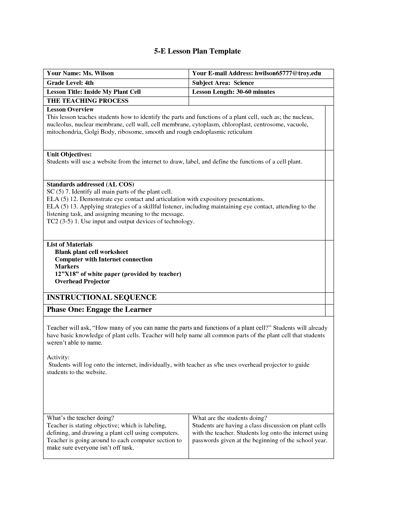 scope of work template Lesson plan templates, Lessons